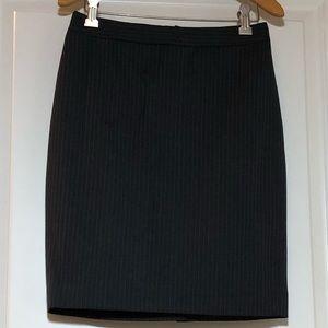 J. Crew Pencil Skirt In Pinstripe Super 120s Wool